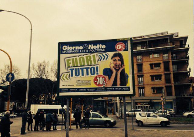 Affissioni pubblicitarie a Roma